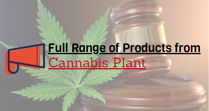 Full Range of Products from Cannabis Plant